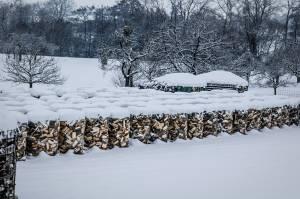 Holz Im Winter-1